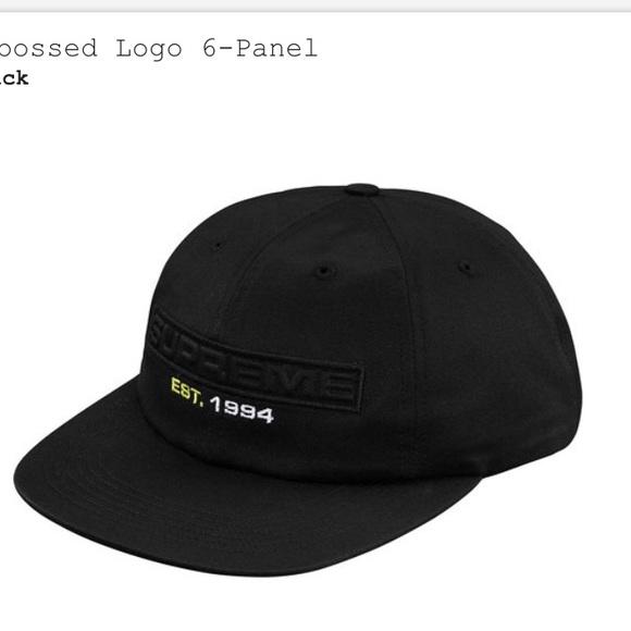 Supreme embossed logo 6panel cap hat NEW authentic 81507bda9b6c